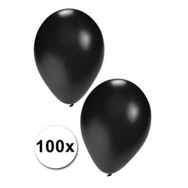 100 Zwarte carnavals ballonnen