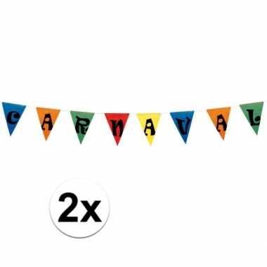 2x carnaval vlaggen 10 meter