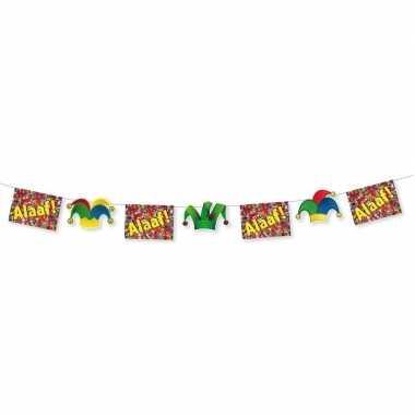 3x carnaval thema versiering vlaggenlijnen alaaf 3 meter