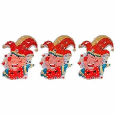 3x prins carnaval wanddecoratie