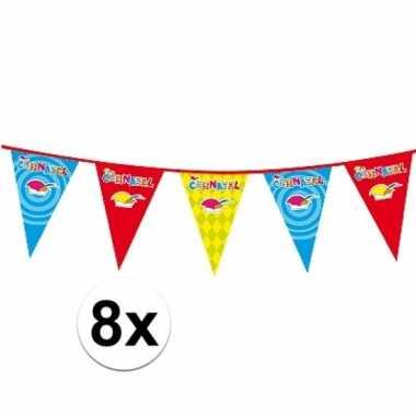 8x 10 meter lange carnaval vlaggenlijn