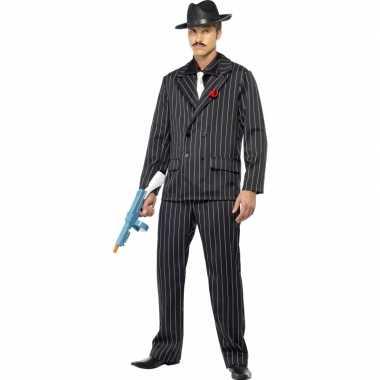 Al capone carnavalspak zwart voor heren