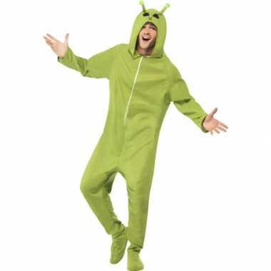 Alien carnavalspak groen