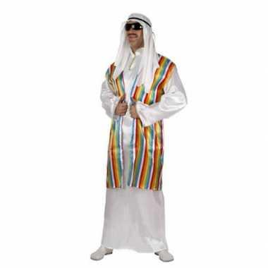 Arabisch carnavalspak met regenboog vest voor volwassenen