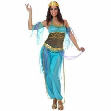 Arabische danseres carnavalspak blauw