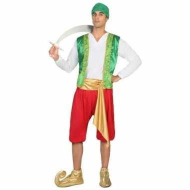Arabische strijder amir verkleed carnavalspak voor heren