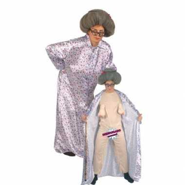 Bejaarde vrouw carnavalspak 10060639