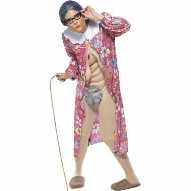 Bejaarde vrouw carnavalspak