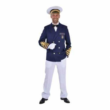 Blauwe kapiteins carnavalspak