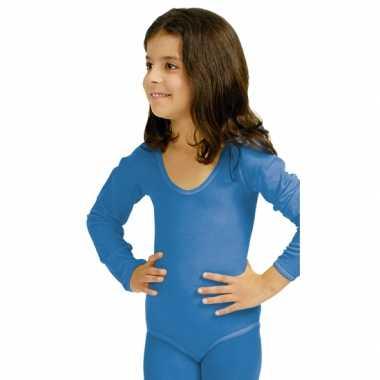Blauwe kinder ballet carnavalspak