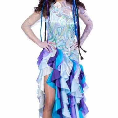 Blauwe prinses van de zee carnavalspak