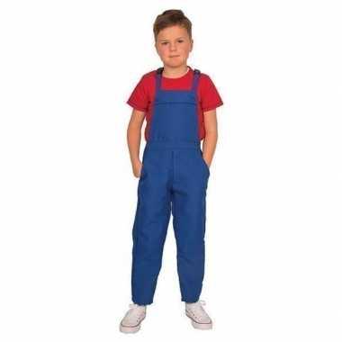 Blauwe tuinbroek/carnavalspakl voor kinderen