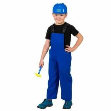 Bouwvakkers verkleed carnavalspakl blauw voor kinderen
