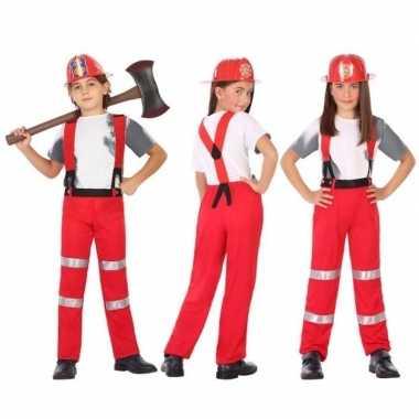 Brandweer pak / verkleed carnavalspak voor jongens en meisjes