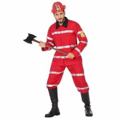 Brandweerman verkleed carnavalspak voor heren