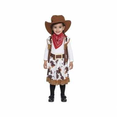 Bruin cowboy carnavalspak voor peuters
