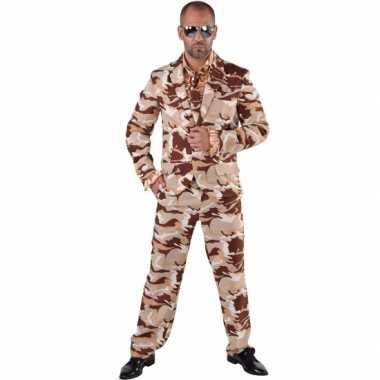 Camouflage carnavalspak 3 delig voor heren