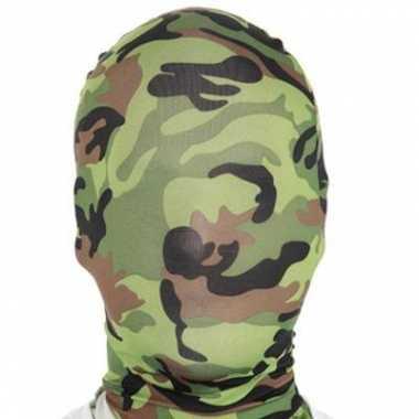 Camouflage carnavalspak masker