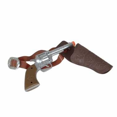 Carnaval accessoires pistool zilver 22 cm