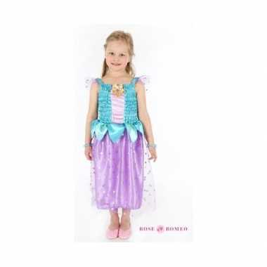Carnaval carnavalspak prinses blauw/paars meisjes
