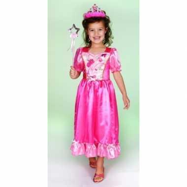 Carnaval carnavalspak prinsessenjurk roze