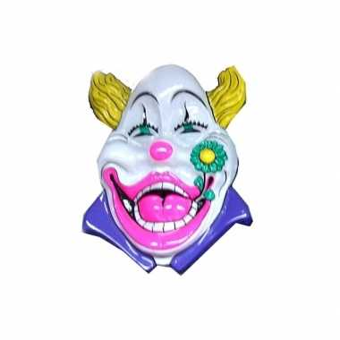 Carnaval clown versiering wit