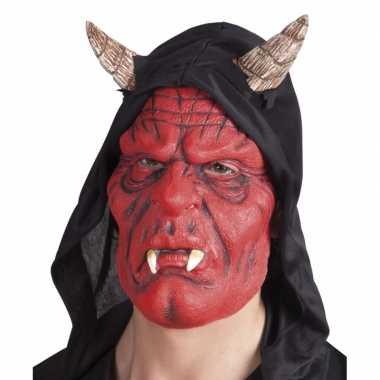 Carnaval duivel masker diablo met hoorns volwassenen