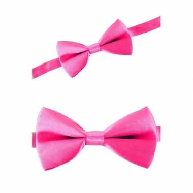 Carnaval feest strikje roze