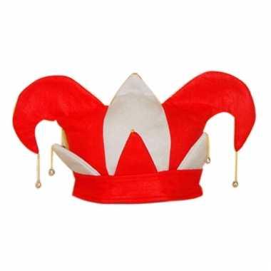 Carnaval hoed hofnar 25 cm