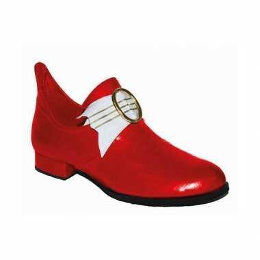 Carnaval rode heren schoenen middeleeuwen