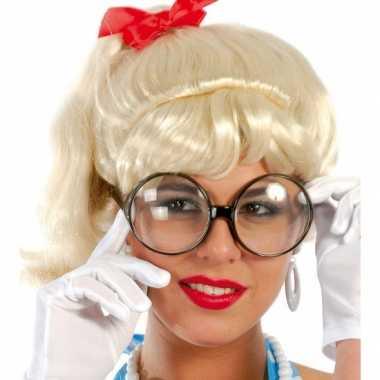 Carnaval verkleed bril met grote ronde glazen