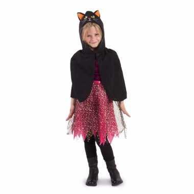 Carnaval verkleed cape kat