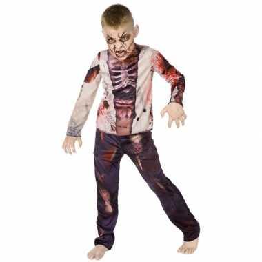 Carnaval zombie carnavalspak voor kinderen
