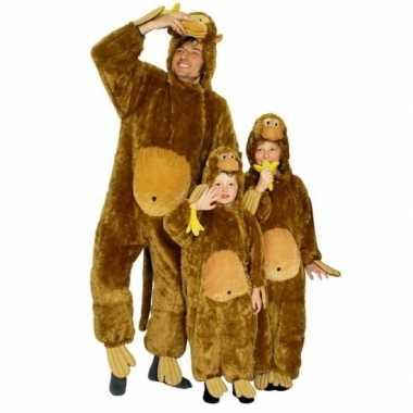 Carnavalspak aap all in one voor kinderen