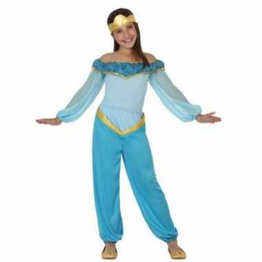 Carnavalspak blauwe arabische prinses