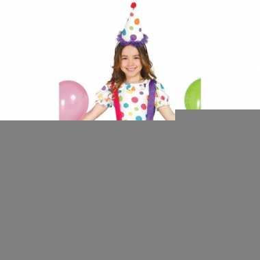 Carnavalspak clownsjurk voor kinderen