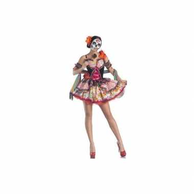 Carnavalspak day of the dead senorita jurk