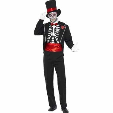 Carnavalspak day of the dead voor heren