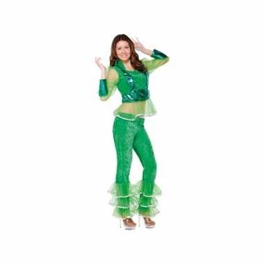 Carnavalspak disco groen voor dames