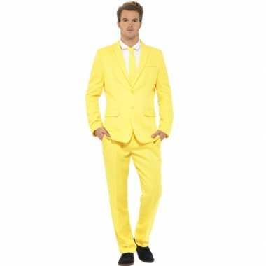 Carnavalspak heren maatpak geel