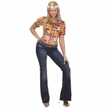 Carnavalspak hippie shirt dames