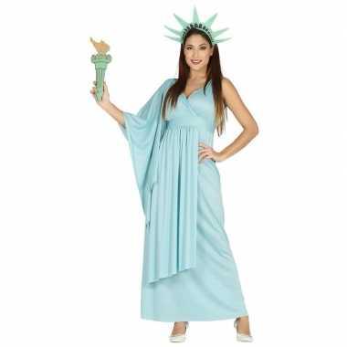 Carnavalspak jurk vrijheidsbeeld blauw