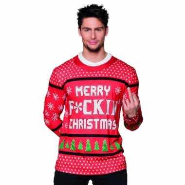 Carnavalspak kerst heren shirt 10075234
