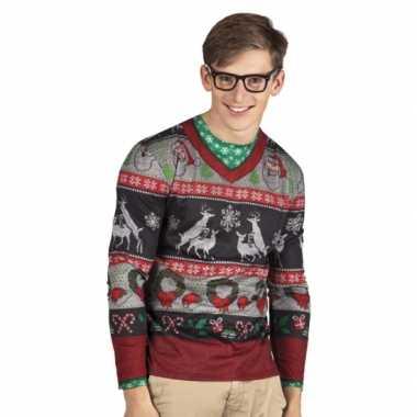 Carnavalspak kerst heren shirt