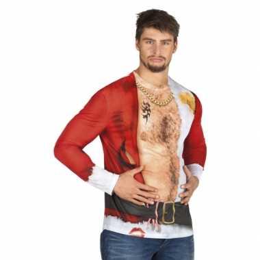 Carnavalspak kerstman heren shirt