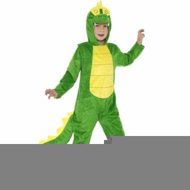 Carnavalspak krokodil all in one voor kinderen