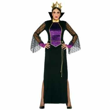 Carnavalspak luxe heksen jurk voor dames