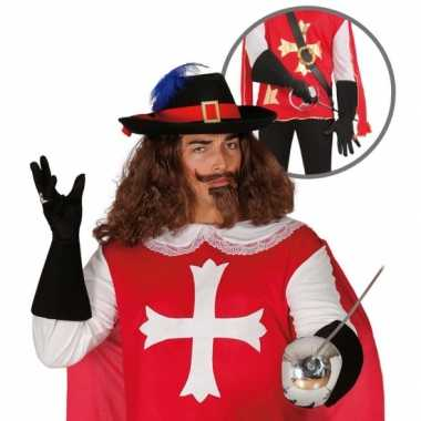 Carnavalspak musketier accessoire volwassenen