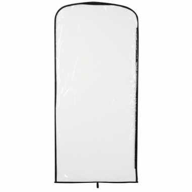 Carnavalspak opberghoes transparant 95 x 42 cm