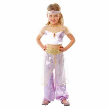 Carnavalspak paars oosterse prinses